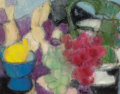 Fine Art - Painting, European:Contemporary   (1950 to present)  , Georgette Tavé (French, 1925-2008). Still life with fruit.Oil on canvas. 12-1/2 x 16 inches (31.8 x 40.6 cm). Signed lo...