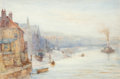 Works on Paper, Thomas Hale-Sanders (British, 1880-1906). Early Morning, Whitby, 1898. Watercolor on paper laid on board. 14 x 20-3/4 in...