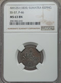 Sumatra, Sumatra: Sultan Ahmad Keping AH1251(1835) MS63 Brown NGC,...