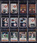 Baseball Cards:Sets, 2001 Fleer Red Sox 100th Complete Insert Set Collection (5) - Autograph Cards, Jersey & Relic Cards Plus 2 Extras....