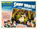 "Movie Posters:Animation, Snow White and the Seven Dwarfs (RKO, 1937). Half Sheet (22"" X 28"")Style A.. ..."