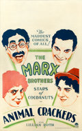 "Movie Posters:Comedy, Animal Crackers (Paramount, 1930). Window Card (14"" X 22"").. ..."