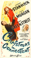 "Movie Posters:Comedy, Christmas in Connecticut (Warner Brothers, 1945). Three Sheet (42""X 79"").. ..."