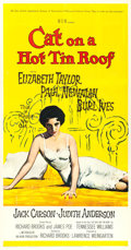 """Movie Posters:Drama, Cat on a Hot Tin Roof (MGM, 1958). Three Sheet (41.5"""" X 79"""").. ..."""