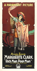 "Movie Posters:Drama, Rich Man, Poor Man (Paramount, 1918). Three Sheet (41"" X 78.25"")....."
