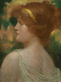 Fine Art - Painting, European:Antique  (Pre 1900), Robert Fowler (British, 1853-1926). Classical Beauty. Oil oncanvas. 17 x 12-1/2 inches (43.2 x 31.8 cm). Signed lower r...