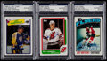 Hockey Cards:Lots, 1976-88 Signed Hockey Card Trio (3) With Robitaille. ...