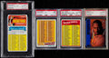 Basketball Cards:Lots, 1970-77 Topps Checklist PSA Graded Trio (3) Plus 1996 SP KobeBryant PSA NM-MT 8....