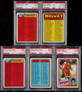 Hockey Cards:Lots, 1971-84 O-Pee-Chee & Topps Hockey PSA Graded Collection (5)....