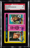 "Baseball Cards:Singles (1970-Now), Signed 1975 Topps Maris/Robinson ""1961 MVP's"" #199 SGCAuthentic...."