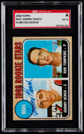 Baseball Cards:Singles (1960-1969), Signed 1968 Topps Johnny Bench #247 SGC Authentic....