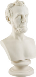 Political:3D & Other Display (pre-1896), Abraham Lincoln: Parian Ware Bust....