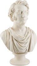 Political:3D & Other Display (pre-1896), Charles Sumner: Unusual Inscribed Parian Ware Bust....