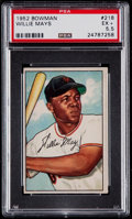 Baseball Cards:Singles (1950-1959), 1952 Bowman Willie Mays #218 PSA EX+ 5.5....