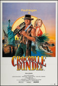 "Movie Posters:Adventure, Crocodile Dundee (Paramount, 1986). Australian One Sheets (2)Identical (27"" X 40""). Adventure.. ... (Total: 2 Items)"