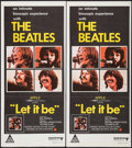 "Movie Posters:Rock and Roll, Let It Be (United Artists, 1970). Australian Post-War Daybills (2)Identical (13.25"" X 29.75""). Rock and Roll.. ... (Total: 2 Items)"