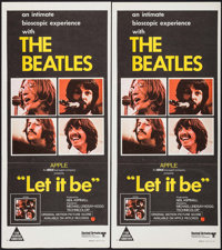 """Let It Be (United Artists, 1970). Australian Post-War Daybills (2) Identical (13.25"""" X 29.75""""). Rock and Roll..."""