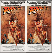 "Raiders of the Lost Ark (Paramount, 1981). Australian Post-War Daybills (2) Identical (13.25"" X 26.75""). Adven..."