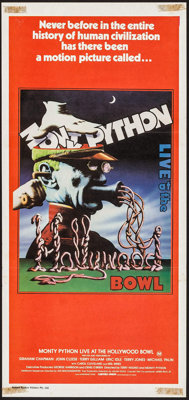"""Monty Python Live at the Hollywood Bowl (Greater Union, 1982). Australian Post-War Daybill (13"""" X 27.75""""). Com..."""