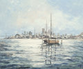 Fine Art - Painting, American:Contemporary   (1950 to present)  , Anna Chrasta (American, 20th Century). San Francisco Bay,1979. Oil on canvas. 20 x 24 inches (50.8 x 61.0 cm). Signed l...