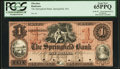 Obsoletes By State:Massachusetts, Springfield, MA- Springfield Bank $1 Undated G22a Proof. ...