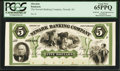 Obsoletes By State:New Jersey, Newark, NJ- Newark Banking Company $5 Undated G14a Proof. ...