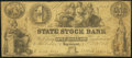 Obsoletes By State:Indiana, Logansport, IN- State Stock Bank $1 Oct. 20, 1852. ...