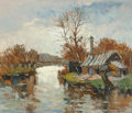 Fine Art - Painting, European:Modern  (1900 1949)  , Maurice Lemaître (French, b. 1929). La Maison du Remouleur.Oil on canvas. 18 x 21 inches (45.7 x 53.3 cm). Signed lower...