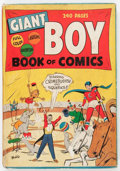 Golden Age (1938-1955):Crime, Giant Boy Book of Comics #1 (Newsbook, 1945) Condition: GD/VG....