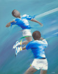 Paintings, Victor Spahn (French, b. 1949). Volleyball. Acrylic on canvas. 36-1/4 x 28-3/4 inches (92.1 x 73.0 cm). Signed lower rig...