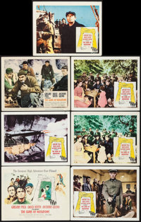 "The Guns of Navarone (Columbia, 1961). Title Lobby Card & Lobby Cards (6) (11"" X 14""). War. ... (Total: 7..."