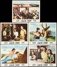 "Malta Story (United Artists, 1954). British Lobby Cards (5) (11"" X 14""). War. ... (Total: 5 Items)"