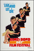 "Movie Posters:James Bond, James Bond Film Festival -- Live and Let Die (United Artists, R-1976). International One Sheet (27"" X 41"") Flat Folded Style..."