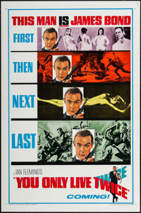 """You Only Live Twice (United Artists, 1967). One Sheet (27"""" X 41"""") Flat Folded Style A Teaser. James Bond"""