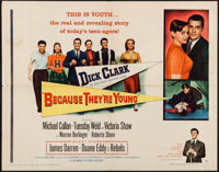 "Because They're Young & Other Lot (Columbia, 1960). Half Sheets (3) (22"" X 28"") Style A & One Sheet (2..."