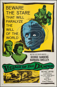"Village of the Damned (MGM, 1960). One Sheet (27"" X 41""). Science Fiction"