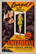 """Movie Posters:Science Fiction, The Unearthly (Republic, 1957). One Sheet (27"""" X 41""""). Science Fiction.. ..."""