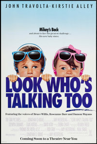 "Look Who's Talking Too (Tri-Star, 1990). One Sheets (50) (Identical) (26.75"" X 39.75"") SS Advance. Comedy..."