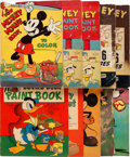 Memorabilia:Miscellaneous, Mickey Mouse and Other Disney Coloring Book Group of 10(Saalfield/Whitman, 1931-40).... (Total: 10 Items)