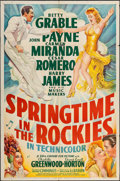 "Movie Posters:Musical, Springtime in the Rockies (20th Century Fox, 1942). One Sheet (27""X 41""). Musical.. ..."