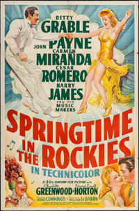"""Springtime in the Rockies (20th Century Fox, 1942). One Sheet (27"""" X 41""""). Musical"""