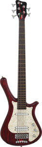 Musical Instruments:Bass Guitars, 2001 Warwick Fortress Flashback Red Electric Bass Guitar, Serial # G 086374-01, Weight: 8.6 lbs....