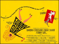 "Funny Girl (Columbia, 1968). British Quad (29.75"" X 39.75""). Musical"