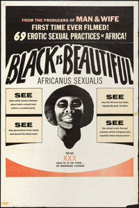"Black is Beautiful (Documento Films, 1974). One Sheet (28"" X 42""). Blaxploitation"