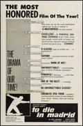 """Movie Posters:Documentary, To Die in Madrid & Others Lot (Altura Films International, 1963). One Sheets (2) (27"""" X 41""""), Photos (11) (8"""" X 10""""), Trimme... (Total: 24 Items)"""