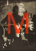 "Movie Posters:Crime, M (Kino, R-1994). German A1 (23.5"" X 33.5""). Crime.. ..."
