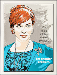 """Mad Men: Joanie by N.E. (New Flesh, 2013). Autographed & Numbered Limited Edition Screen Print Poster (18""""..."""