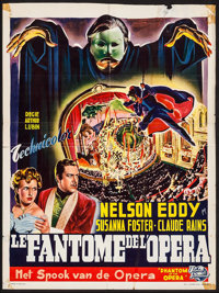 "Phantom of the Opera (Universal International, Late 1940s). First Post-War Release Trimmed Belgian (14"" X 18.5""..."