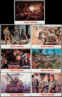 "Kelly's Heroes (MGM, 1970). Lobby Cards (7) (11"" X 14""). War. ... (Total: 7 Items)"