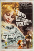 "Movie Posters:Foreign, Closely Watched Trains (Artkino, 1968). Argentinean Poster (29"" X 43""). Foreign.. ..."